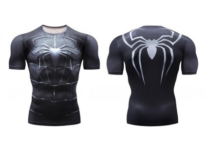 fitess tričko spiderman black