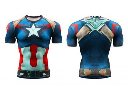 fitess tričko kapitan amerika