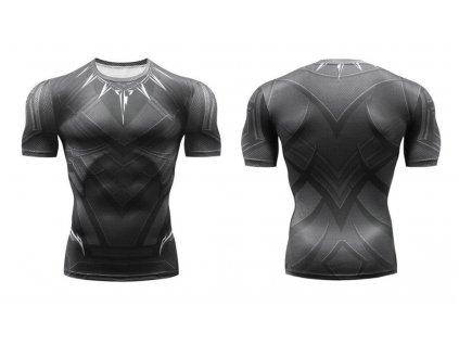 fitess tričko black panther