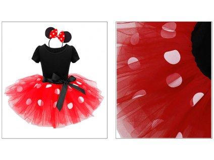 divčí šaty mickey mouse