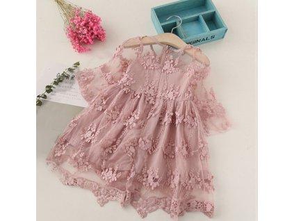 šaty dívčí pink 9