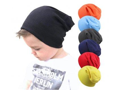 dětská čepice spostu barve