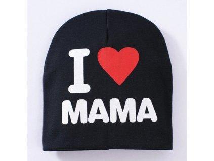 dětská čepice I love mama