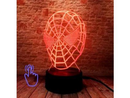 led maska spiderman