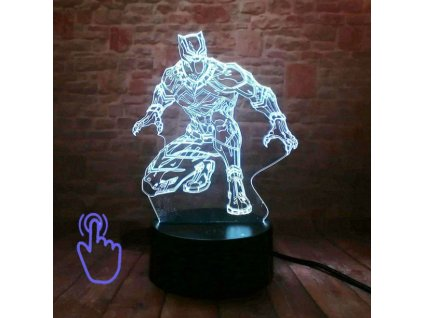 led maska black panther