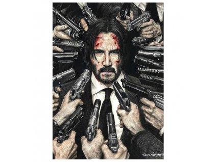 plakát john wick zbrane
