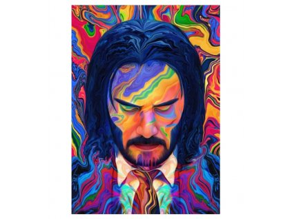plakát john wick barveny