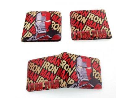 peněženka iron man nápis