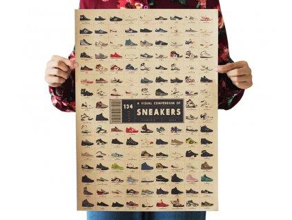 plakát tenisky sneakers