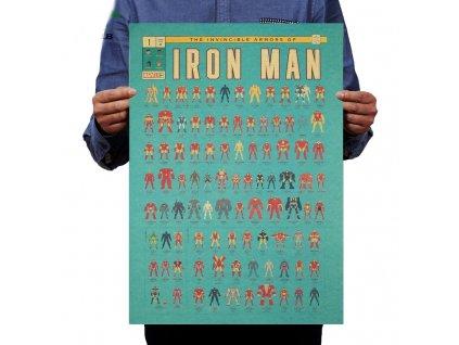 plakát iron man obleky