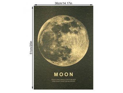 plakát měsíc nasa