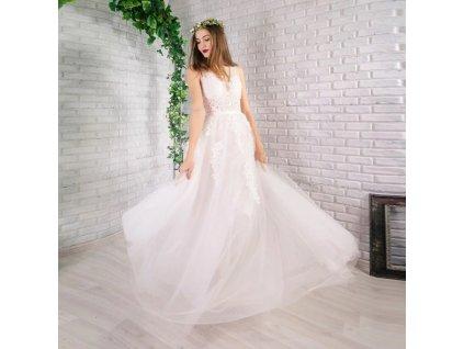 svatební šaty champange s65
