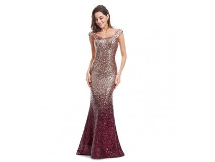 šaty burgundy