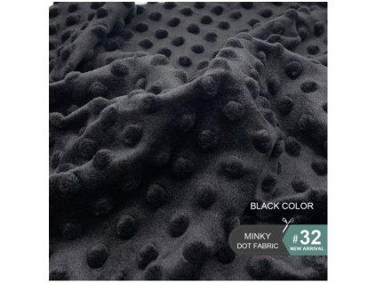 látka černá