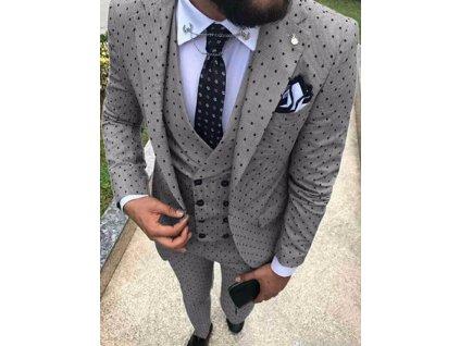 oblek puntíkatý
