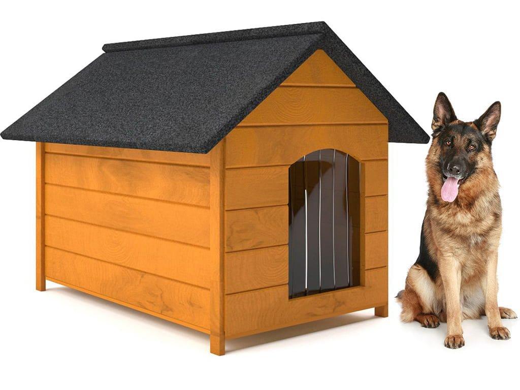 psia buda drevena zateplena velkost xl borovica so zavesom
