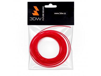 3DW - ABS filament 1,75mm červená, 10m, tisk 220-250°C
