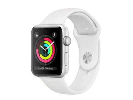 Watch S3, 38mm, Silver AC/White Sport Band / SK
