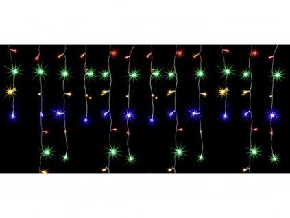 Beltéri karácsonyi LED fényfüggöny - színes 105 dióda