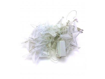 Vánoční LED řetěz hvězdy - 15 hvězd (5 m) (Barva Teplá bílá)