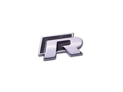 3D Znak R (R-line) (Barva Stříbrno-černá)