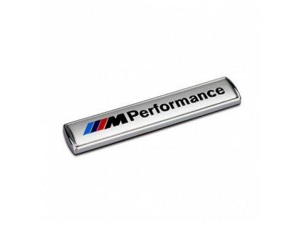 3d samolepka bmw m performance stribrna