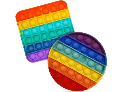 Antistresová hračka BUBBLE POP IT - Rainbow (Tvar Tyranosaurus)