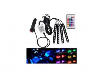 LED háttérvilágítás autóba távirányítóval - 23 cm (12V)