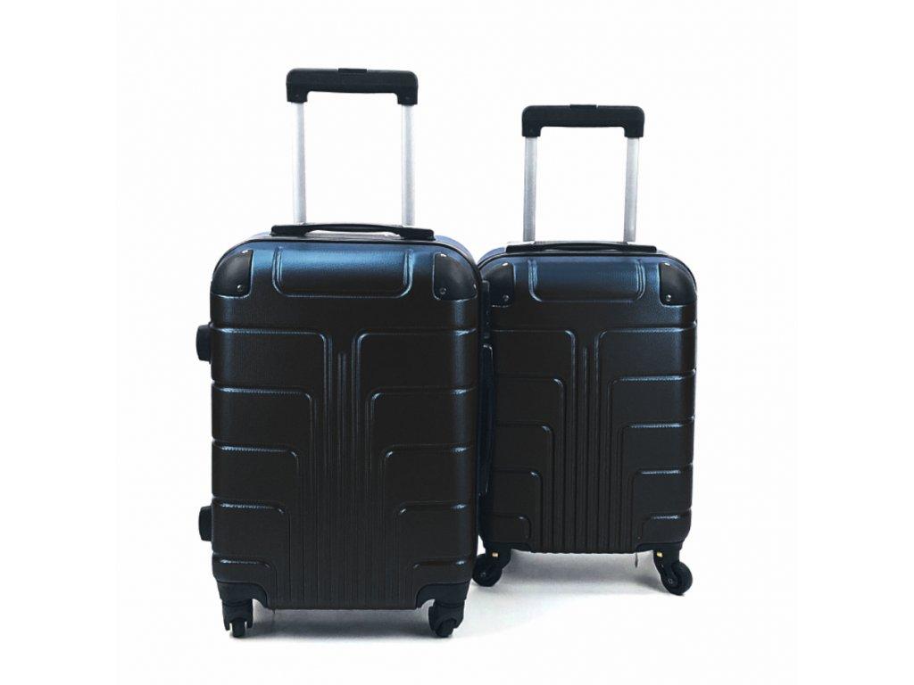 Cestovní Skořepinový Kufr - Černý (velikost S a XS) (Opicka S)