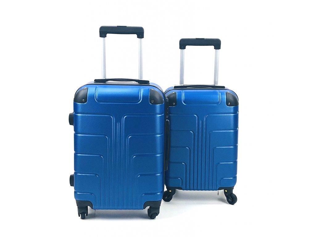 Cestovní Skořepinový Kufr - Modrý (velikost S a XS) (Opicka S)