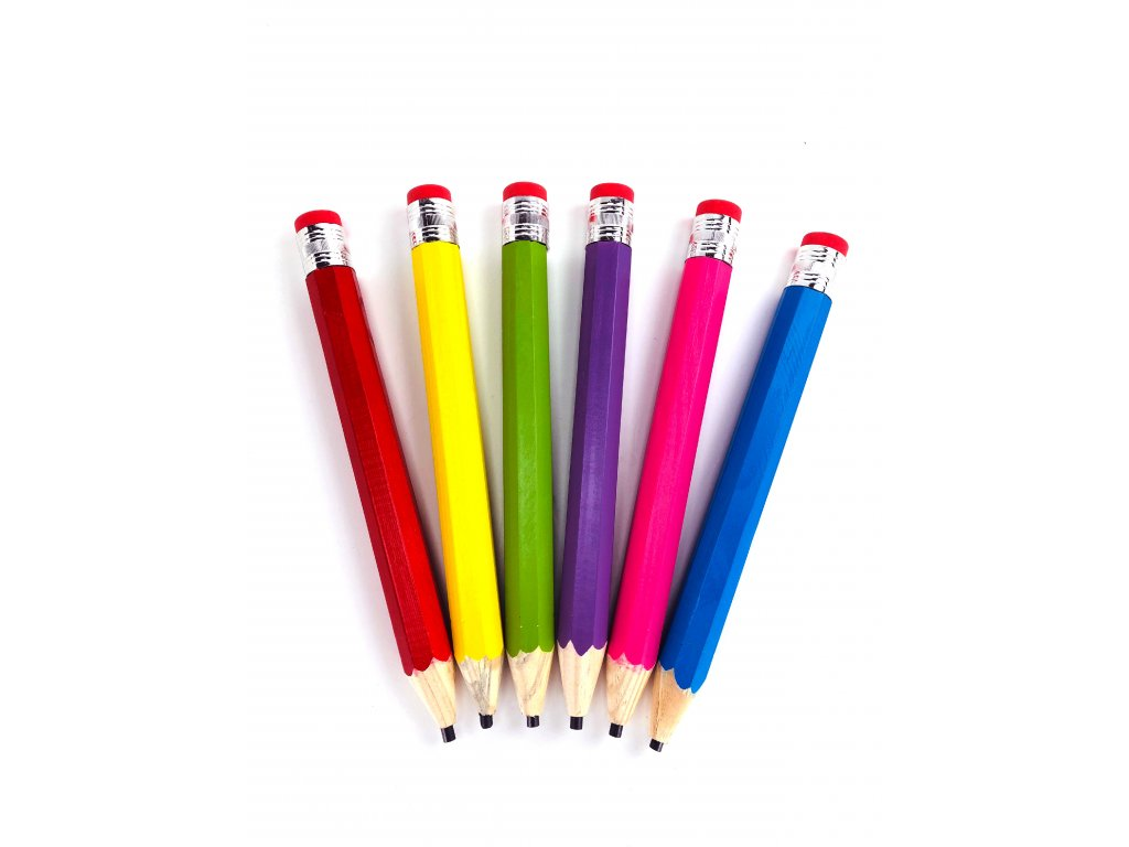 Obří tužka s gumou - Různé barvy (33 cm) (Opicka Pro muže)