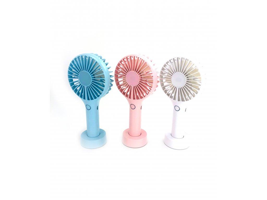 Přenosný větráček DREAM FAN - Různé barvy (Opicka Bílá)