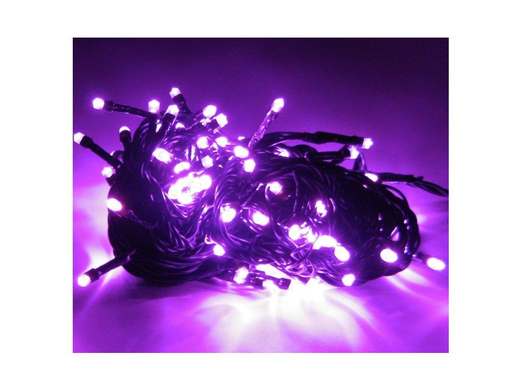 Vnitřní vánoční led osvětlení - Fialový 50 až 250 led (Osvětlení Fialová 5m - 50 led diod)
