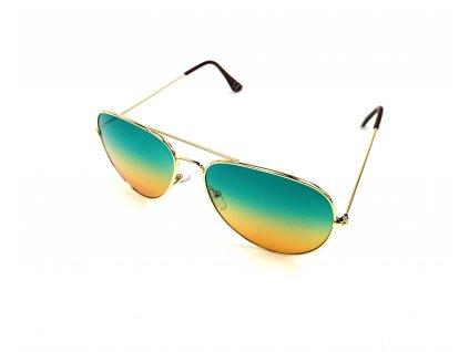 131696 slunecni bryle aviator zeleno oranzove