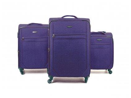134297 cestovni kufr ultra lehky tmave fialovy sada 3ks