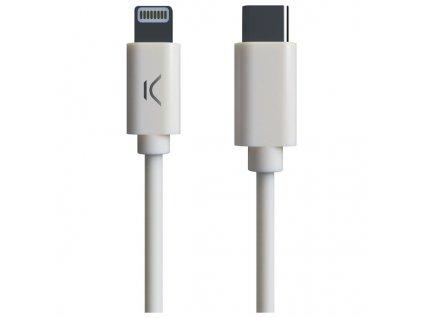 Kábel USB-C na Lightning MFI (1 m) Biela