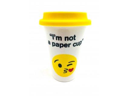 Keramický hrnček I am not a paper cup - 350 ml