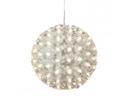 Vianočné LED svetelná guľa s kvetmi - 12 cm
