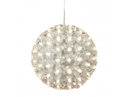 Vianočné LED svetelná guľa s kvetmi - 18 cm