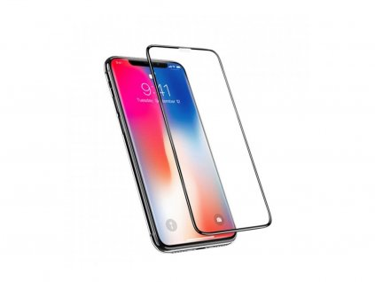 "3D ochranné Tvrdené Sklo Pre iPhone 11 Pro - Čierne (5,8 "")"