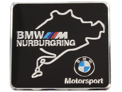2021 05 05 12 29 25 Kovová samolepka BMW Nurburgring Motorsport 6 x 5,5 cm SLEVOVAR.CZ