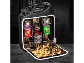 Kanystr Bar Černý - padací most - Různý obsah (Druh lahve Whisky Jameson 0,7l)