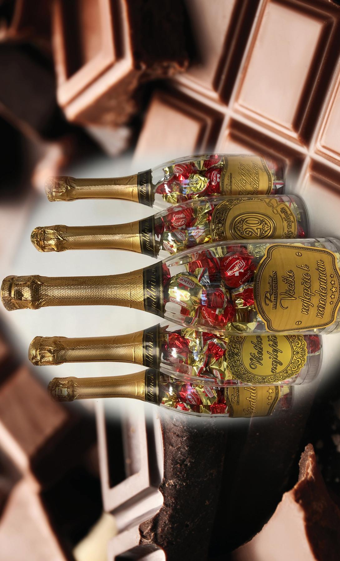 Čokoládové pralinky vo fľaši