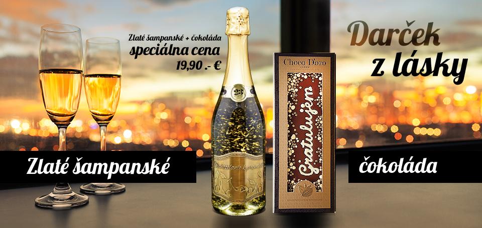 Zlate šampanské + čokoláda