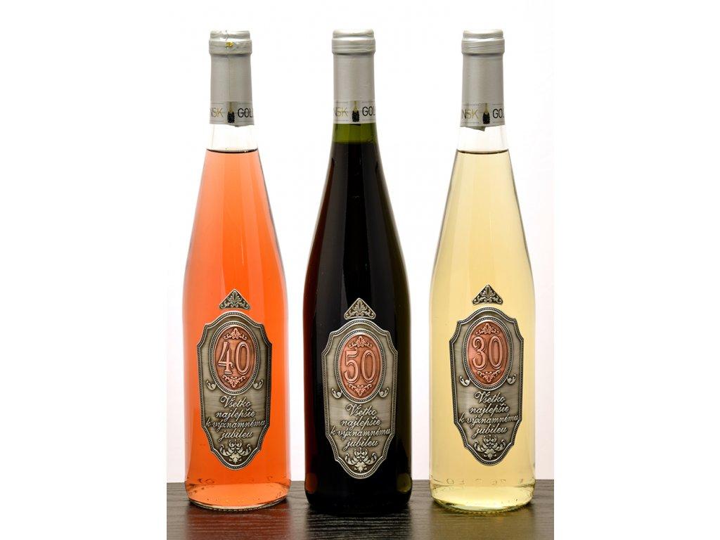 Rýnska fľaša k jubileu - biele víno