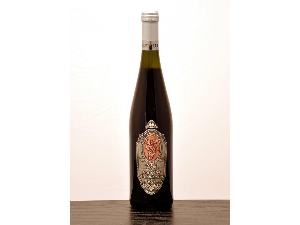 Rýnska fľaša Všetko najlepšie k meninám - biele víno
