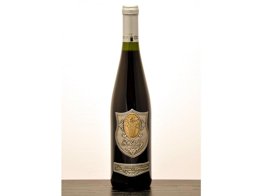 Rýnska fľaša Z lásky - červené víno