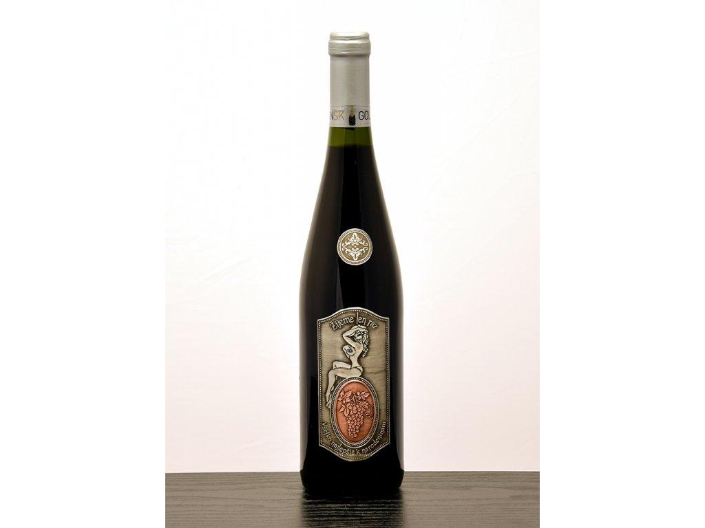 Rýnska flaša Žijeme len raz - červené víno