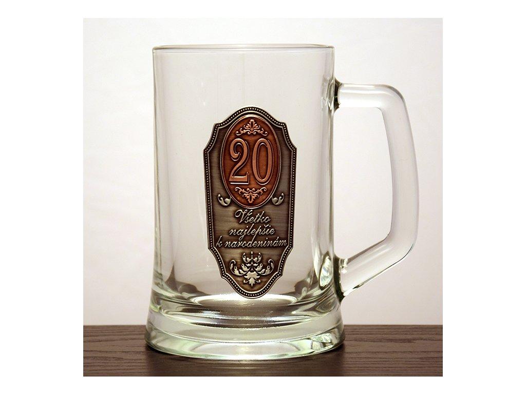 """Krígeľ Všetko najlepšie k narodeninám """"20"""""""