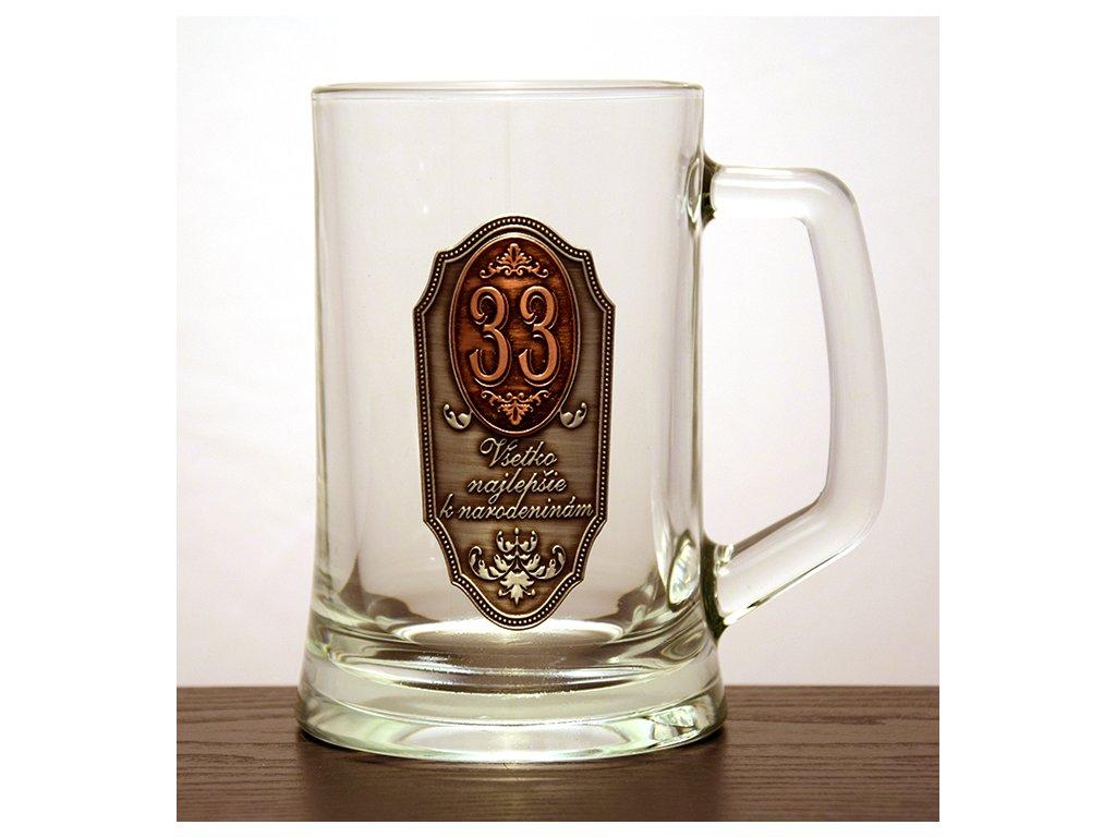 """Krígeľ Všetko najlepšie k narodeninám """"33"""""""